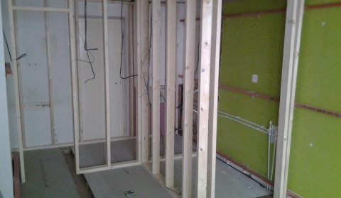 Partitions go up
