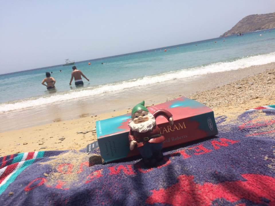 Relaxing with a good read - Mykonos