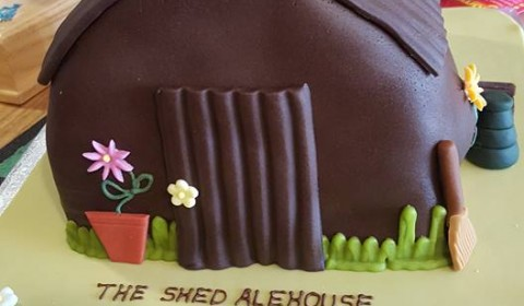 Birthday Shed Cake