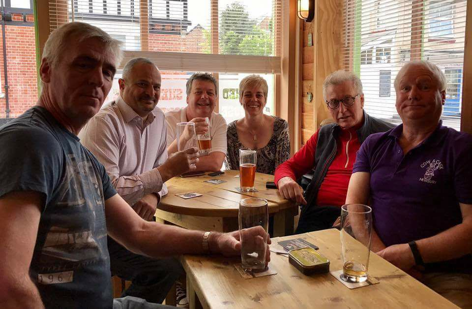 Patrons of the Cow & Cask Micropub in Newbury