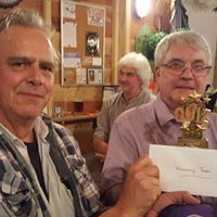 Halloween Quiz Winners, Mike and Richard