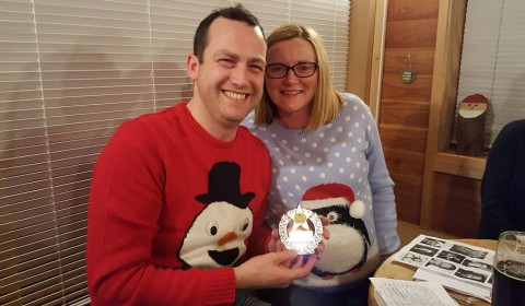 Christmas Quiz Winners, Ian and Claire