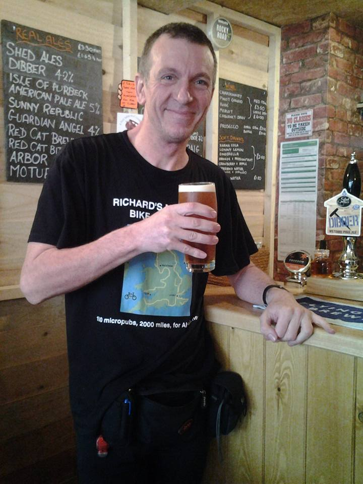 A well earnt pint for Richard Reeve