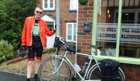 The man and bike - Charity Cycle Ride 2015